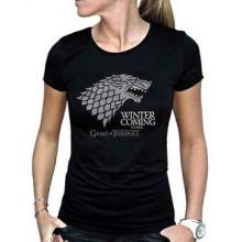 GoT Winter Is Coming T-Shirt Svart Dam