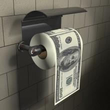 100 Dollar Toalettpapper