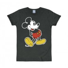Disney Musse Pigg Klassisk T-Shirt Slim Fit Svart