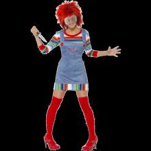 Fröken Chucky-dräkt dam
