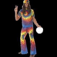 Knytbatik Hippie-dräkt 60-tal vuxen