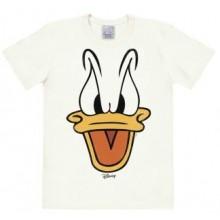 Disney Kalle Anka Ansikte T-Shirt Vit