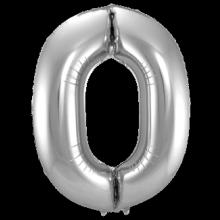 Jumbo Sifferballong Silver