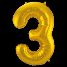 Jumbo Sifferballong Guld 3