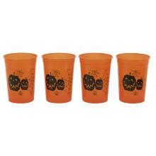 Halloween Muggar orangea 4-pack