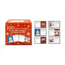 100 Pack Julklappsetiketter