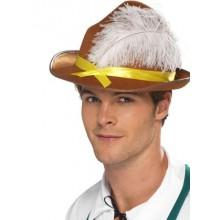 Oktoberfest Hatt Brun Med Fjäder