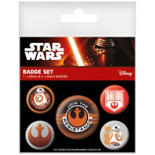 Star Wars Episode VII Resistance Badges 5-pack