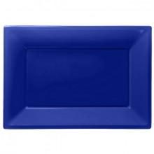 Uppläggningsfat Blå 3-pack