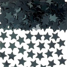 Konfetti Stjärnor Svarta