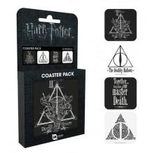Harry Potter Drinkunderlägg 4-pack Deathly Hallows