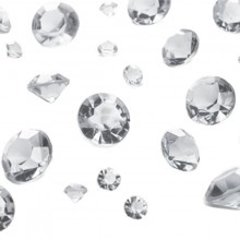 Bordsdekoration Diamant Silver