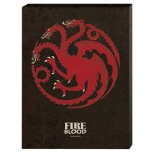 Game of Thrones Canvas Targaryen 30 x 40 cm