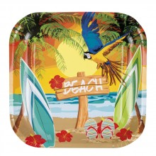 Tallrikar Hawaii Strand 6-pack