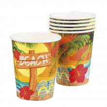 Pappersmugg Hawaii Strand 6-pack