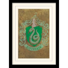 Harry Potter Inramad Poster Slytherin Crest