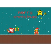 Merry Chrstmas from Super Mario - julkort