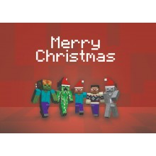 Jul i Minecraft - julkort