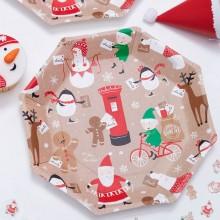 Tallrikar Jultomte & Vänner 8-pack