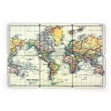 Drinkunderlägg Världskarta