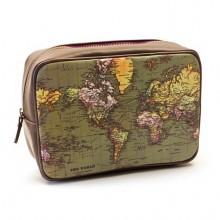 Necessär Världskarta Vintage