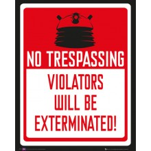 Doctor Who Poster No Trespassing 40 x 50 cm