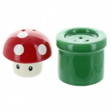 Nintendo Mushroom & Pipe Salt & Pepparkar