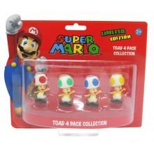 Nintendo Minifigurer 4-pack toad