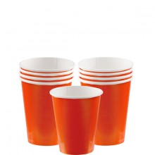 Pappersmugg Orange 8-pack