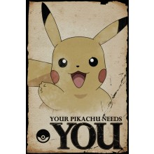 Pokémon Pikachu Needs You Poster 61 x 91,5cm