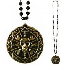 Halsband Pirat Medaljong