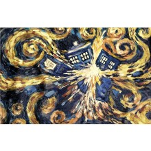 Doctor Who Exploding Tardis Canvas 60 x 80cm