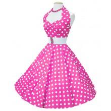 Rockabillyklänning Polka Rosa