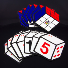 Rubiks kub-spelkort