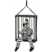 Talande skelett i bur