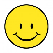 Glad Smiley Figur 33cm