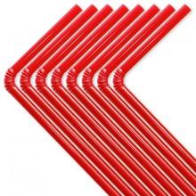 Sugrör Röd 50-pack