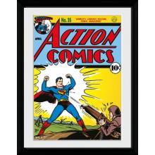 Superman Serieomslag Inramad 30 x 40cm