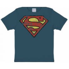 Superman Logo T-Shirt Barn Grå