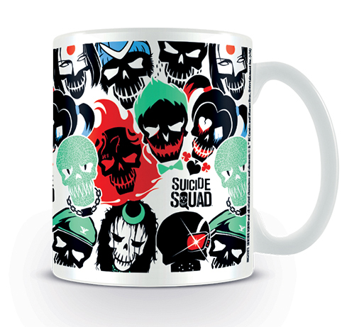 Suicide Squad Mugg Skulls