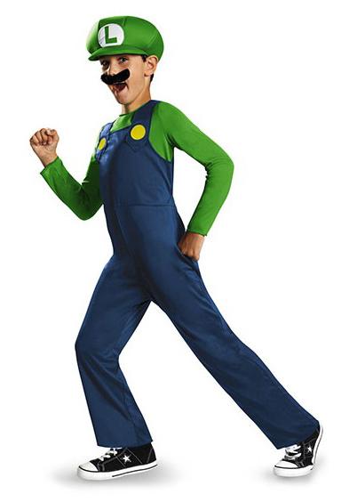Maskeradkläder Barn - Luigi Maskeraddräkt Barn