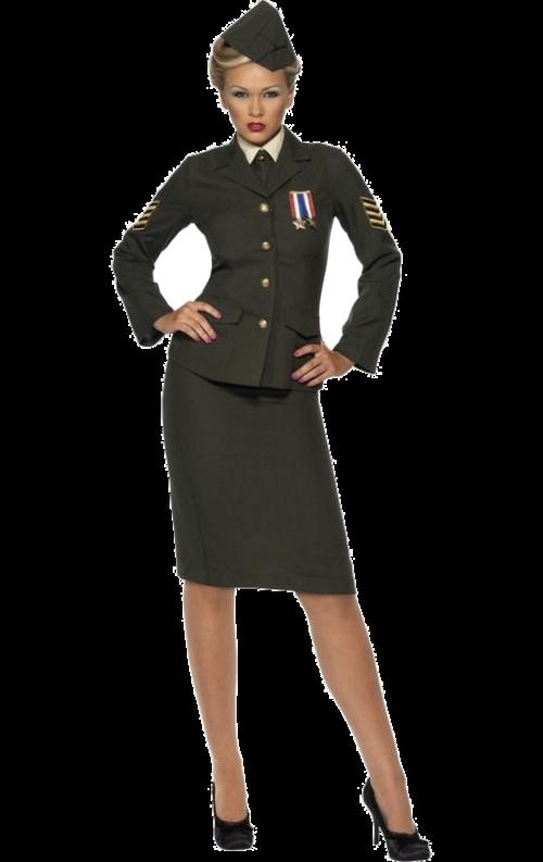 Militärofficer-dräkt dam