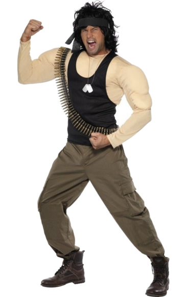 Rambo Maskeraddräkt