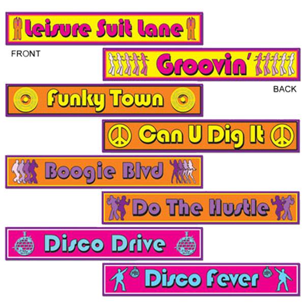 Skylt 70-tal Disco 4-pack