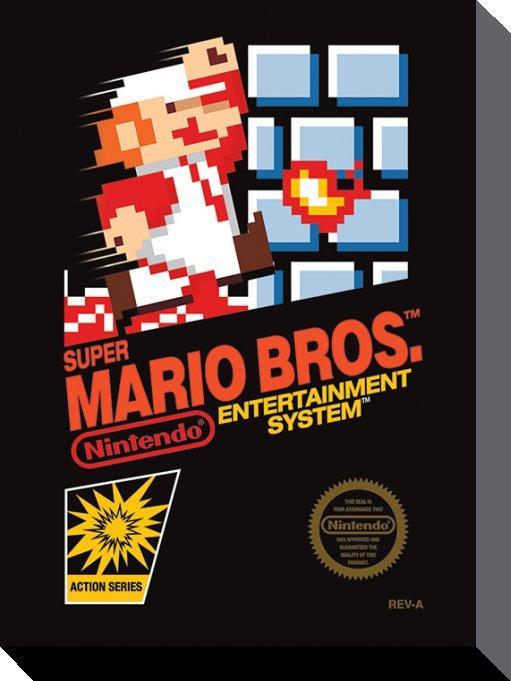 Super Mario Bros NES Canvas 30x40cm