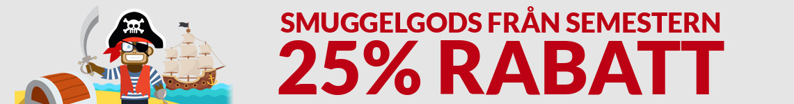 SmuggelGods från semestern - ingen skatt -25% rabatt