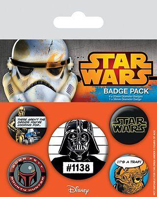 Star Wars Knappar Old School 5-pack thumbnail