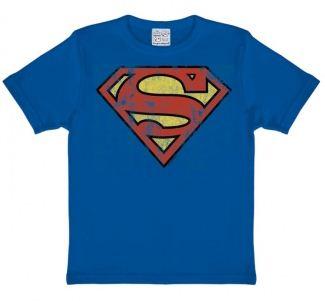Stålmannen Logo T-Shirt Barn Blå thumbnail
