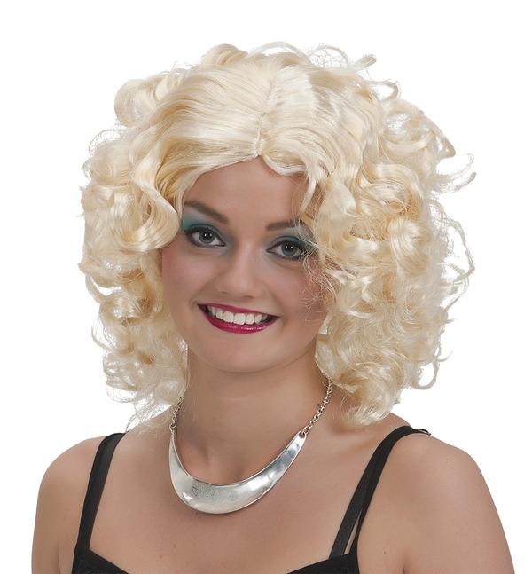 Lockig blond peruk thumbnail