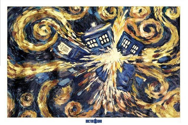 DOCTOR WHO - EXPLODERANDE TARDIS AFFISCH